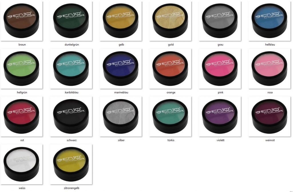 Bodypainting color color cans selection shades