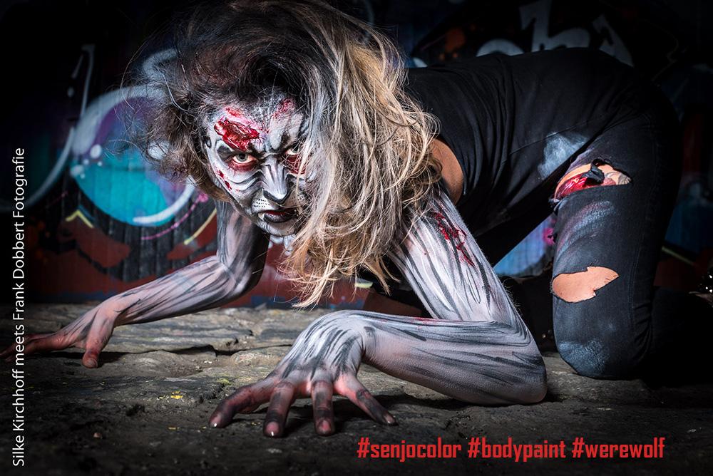Werwolf Bodypainting Modell